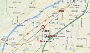武者行列スタート場所へのアクセス